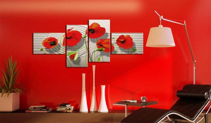 Obraz na plátně - Poppies on the sand #canvas #prints #obraz #decor #inspirace #home #barvy #pictureframesonline #redflowers