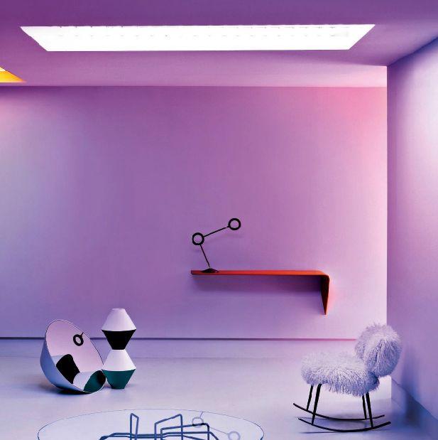 La lampara Amuleto tiene un diseño exclusivo para decorar espacios tan singulares como este  #decoracionhogar #decoration #iluminacionled #iluminacionesled #lamp #luz   #light #purple #room #habitacion #interiordesign #interiordecor #design #purple #ledlighting #ledlights #inspirational #inspiration