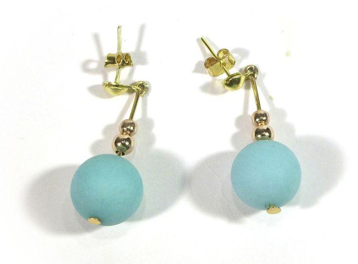 Chandelier Earrings – Earrings with matt Jadeit – a unique product by betulek on DaWanda