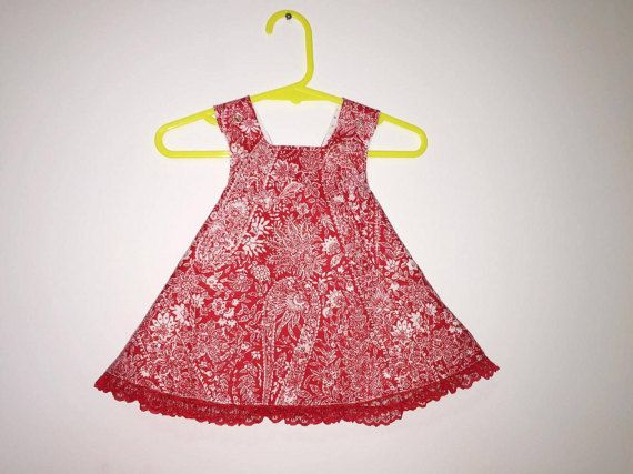 Pinafore Dress  3-6 months by SewNSewsDesigns on Etsy