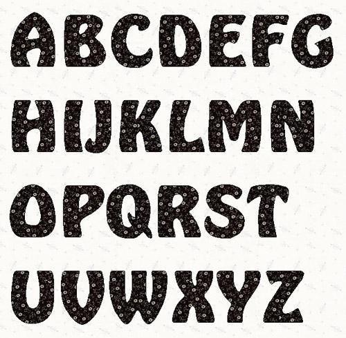 alphabet hobbit font 6 inch template