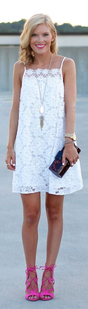 Asos White Lace Trapeze Mini Cami Dress