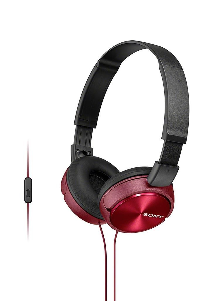 Sony Mdr Zx310ap Over Ear Kopfhorer Headset Mit Mikrofon Freisprechfunktion Rot Mikrofon Over Ear Kopfhorer Sony