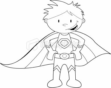 super hero coloring sheet | Colour It In Super Hero Template Royalty Free Stock Vector Art ...
