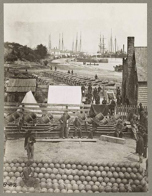 Yorktown Va. May 1862. A scene during the Civil War