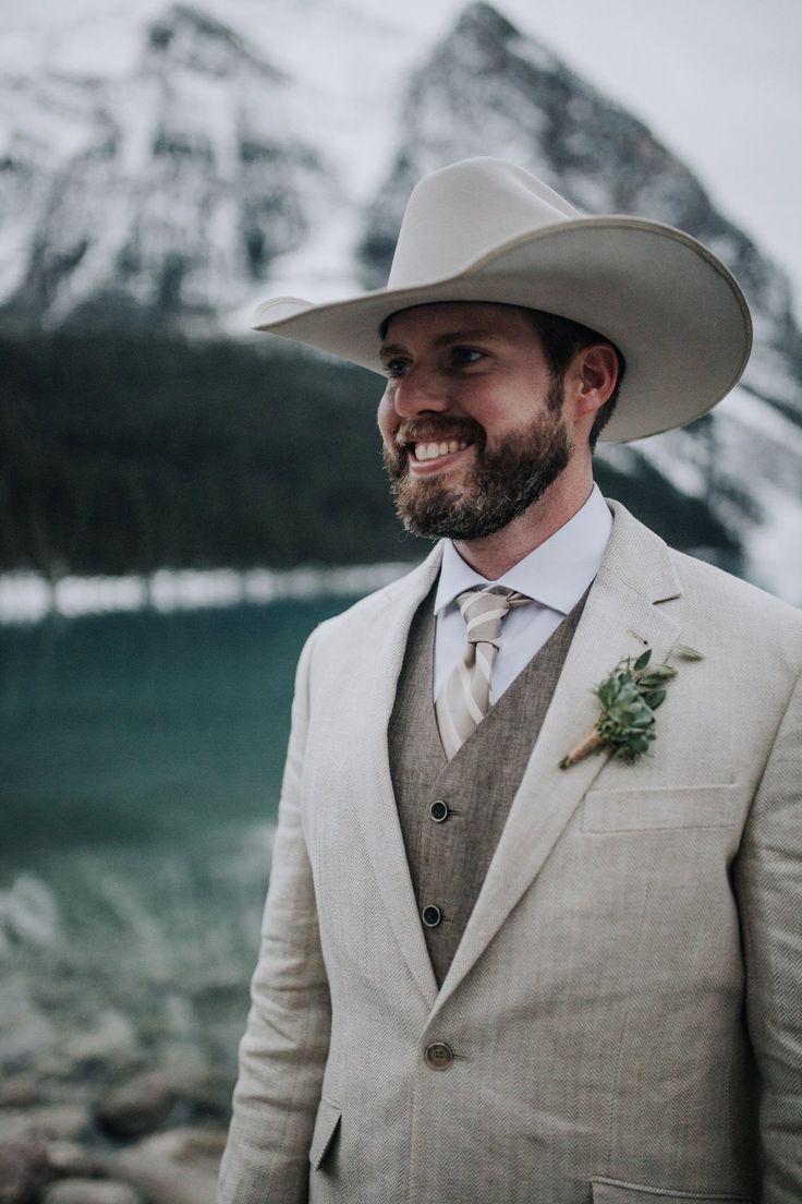 Grooms Attire Winter Wedding Inspiration Cowboy