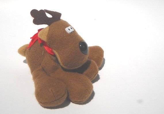Rodney Reindeer 1980s Christmas Toy by ManateesToyBox on Etsy, $5.85