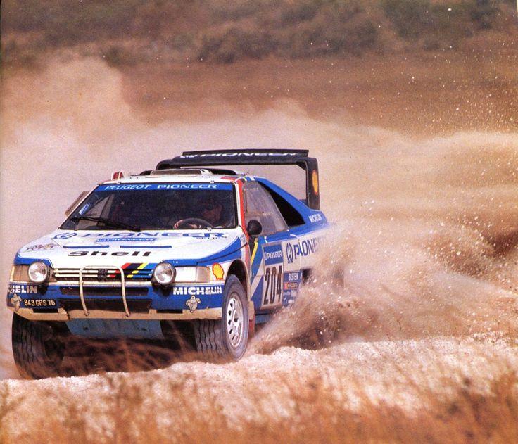 Ari vatanen (Peugeot 405 Turbo 16) Paris-Dakar 1988 - sport-auto février 1988.