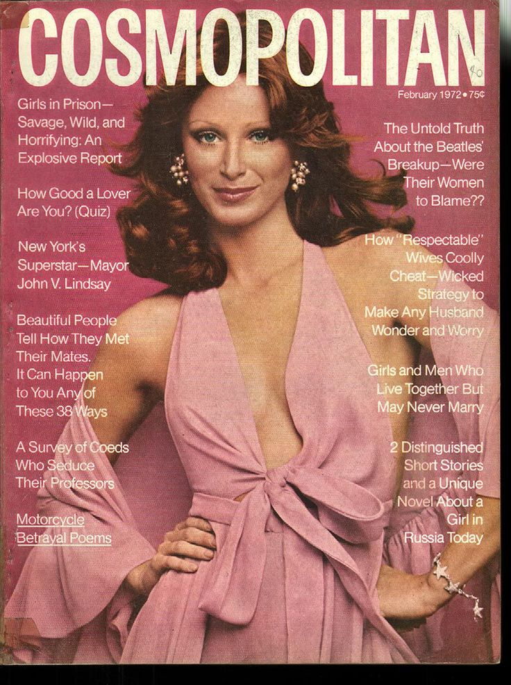 Cosmopolitan magazine, FEBRUARY 1972 Model: Laura Bernard Photographer: Garry Gross