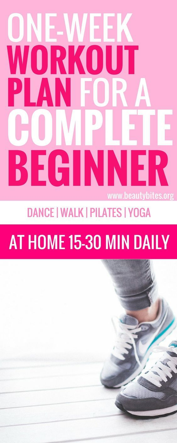 7-Days Workout Plan For Complete Beginners. If you're new to working out - try this workout plan for beginners to lose weight and feel great daily! These workouts include great and easy exercises for beginners, especially complete beginners - for example if you are overweight and just starting out and want to stay healthy and lose fat. Choose the workouts you like and do them every day in the morning for 15 - 30 minutes!