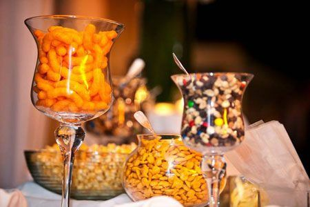 I need to plan a wedding just to have one of these! Sweet and Salty Snack Bar!
