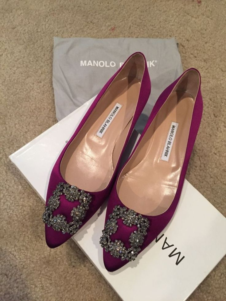 Authentic Manolo blahnik hangisi satin flats #ManoloBlahnik #Flats