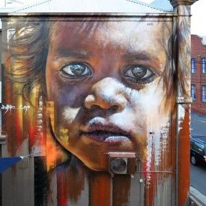 """Matt Adnate @adnate http://instagram.com/adnate  Matt from the collective The AWOL Crew has taken street art to another level with his breathtaking photo-realistic and large scale murals and portraits.  Adnate's Instagram account documents each of these works in progress and is a must """"follow""""."""