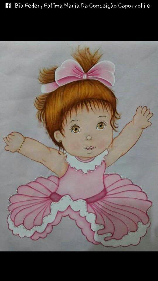 Bailarina para almofada de perninha