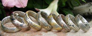 Mokume Gane Trauringe · japanische Goldschmiedetechnik Mokume Gane erklärt