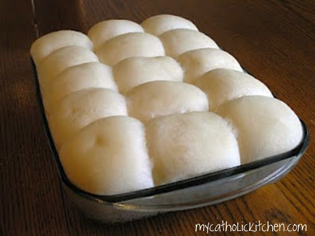 My Catholic Kitchen » Pull Apart Yeast Rolls