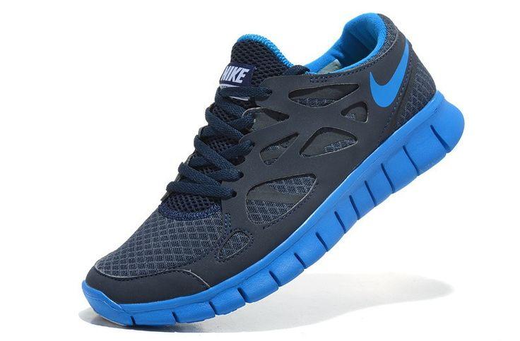 Zapatillas de running - Nike Free Run 2 Hombre - negro azul real/royal U41YP 1