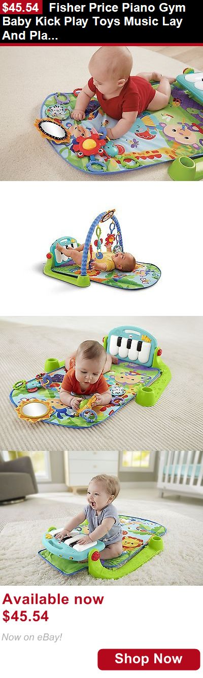 Baby gyms and play mats: Fisher Price Piano Gym Baby Kick Play Toys Music Lay And Play Entertaining New BUY IT NOW ONLY: $45.54