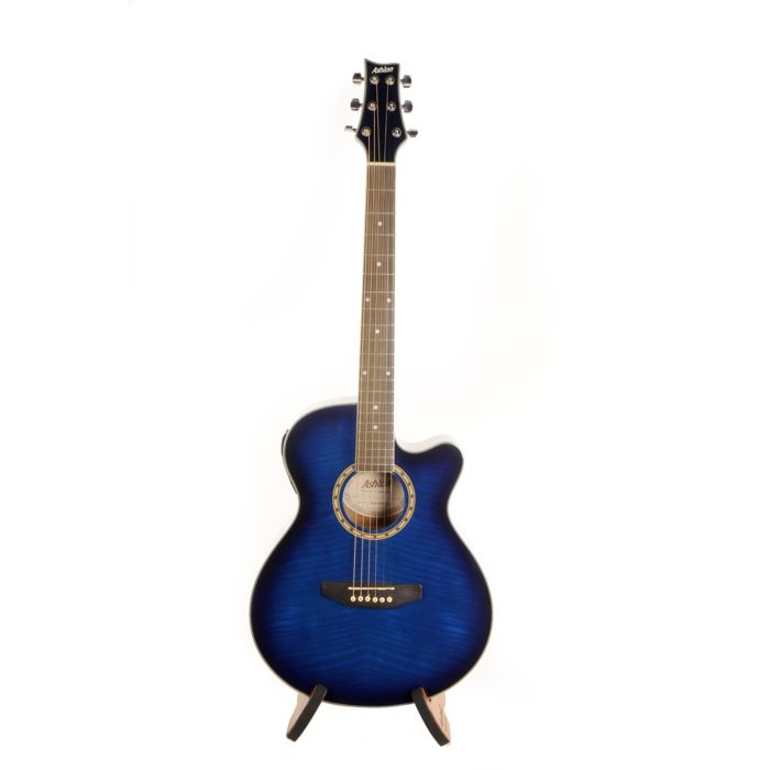 Ashton: SL29CEQ Electro-Acoustic Guitar - Transparent Blue. £190.00. Also available in Black, Tobacco Sunburst, and Wine Red.