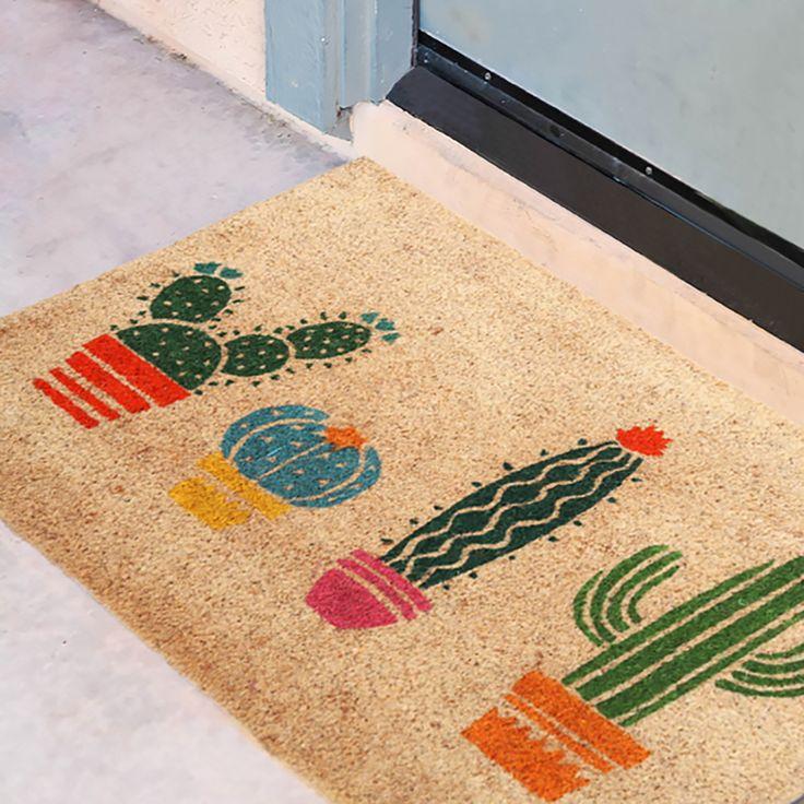 Rohožka z kokosového vlákna Kaktus #homedecor #Cactus #Kaktus