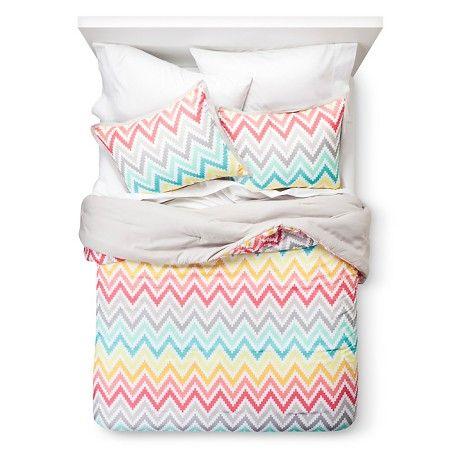 Xhilaration™ Chevron Print Comforter Set - Pink (Twin Extra Long) : Target
