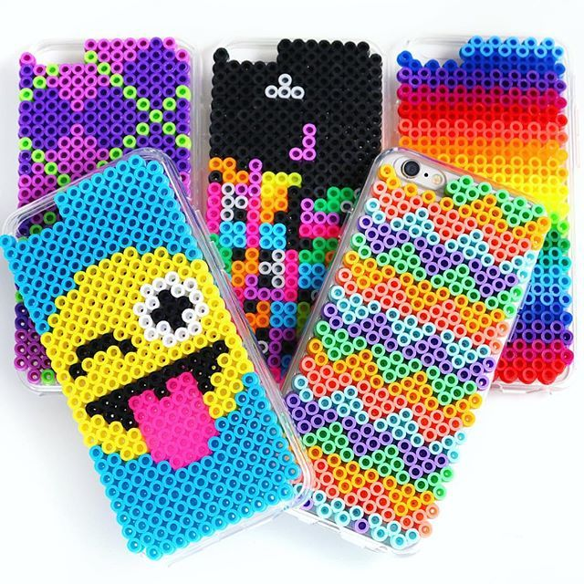 Today on HGTV Handmade, I'm showing you how to make these #DIY Phone Cases out of Perler Beads! Link in my bio!