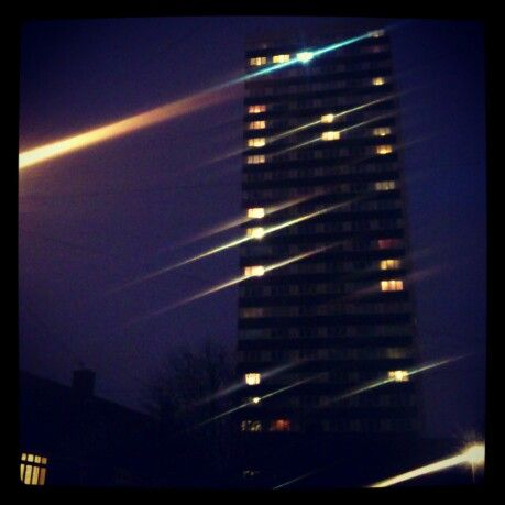 High-rise at night