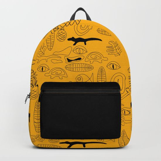 A surreal croco dream on yellow base #backpack @Society6
