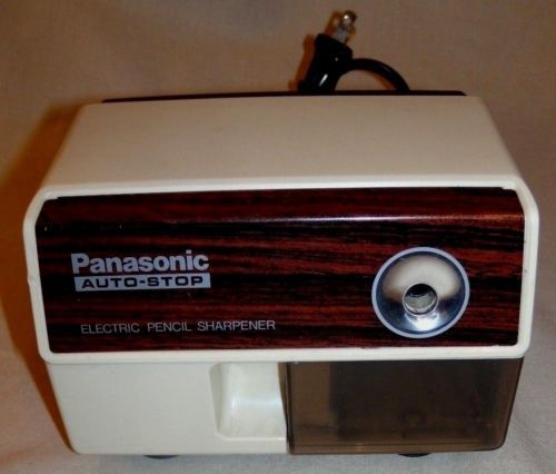 Panasonic-Vintage-Electric-Pencil-Sharpener-Model-KP-110-Auto-Stop-Japan-Working