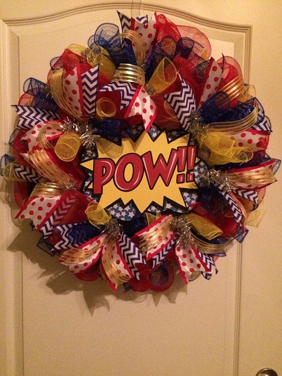 Super Hero Wreath by SuzysOzarkWreaths on Etsy