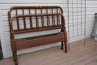 The Black Sheep Shoppe: Antique Jenny Lind Spool Bed (SOLD)