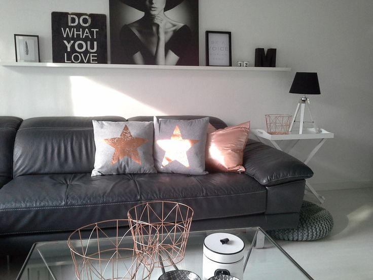 kissen grau stern kupfer 45x45 cm mit f llung produkte. Black Bedroom Furniture Sets. Home Design Ideas