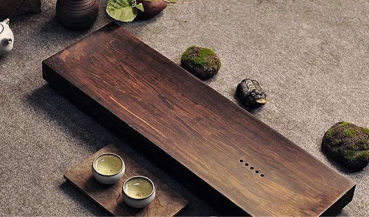 Bamboo Tea Tray Displaying And Serveing Tea Tea Tray Handicraft Chinese Kung-Fu Tea Set Chinese Teaism Practice.