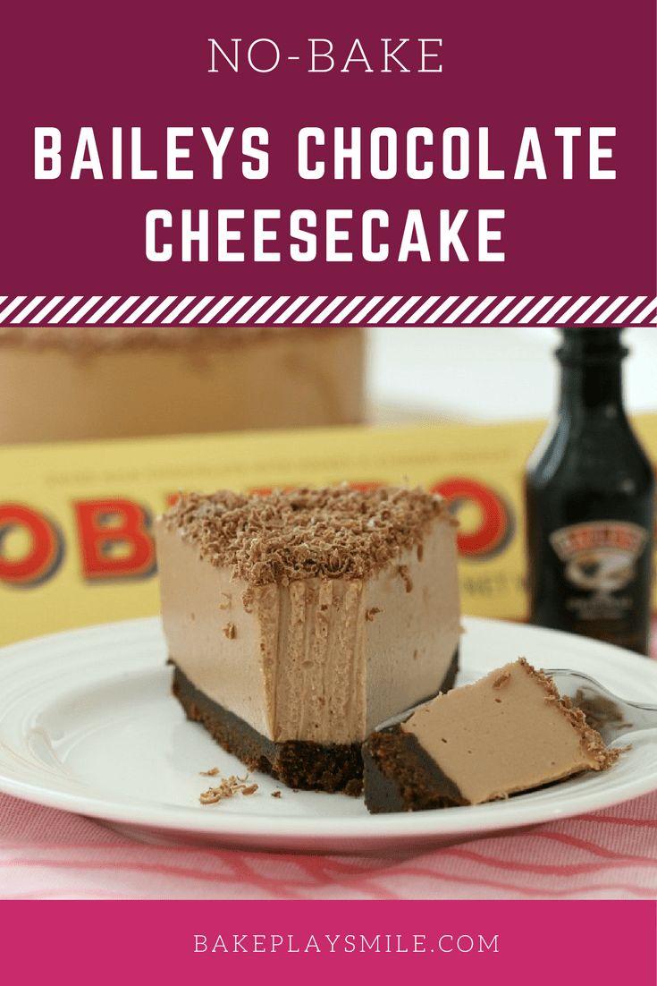 Baileys Chocolate Cheesecake (No-Bake)