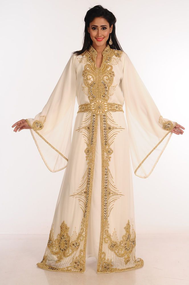 5810a076f78 Dubai Wedding MOROCCAN Kaftan Women gown Royal Maxi Abaya Arabic New Dress  F 103  Handmade  DubaiCaftan  Formal