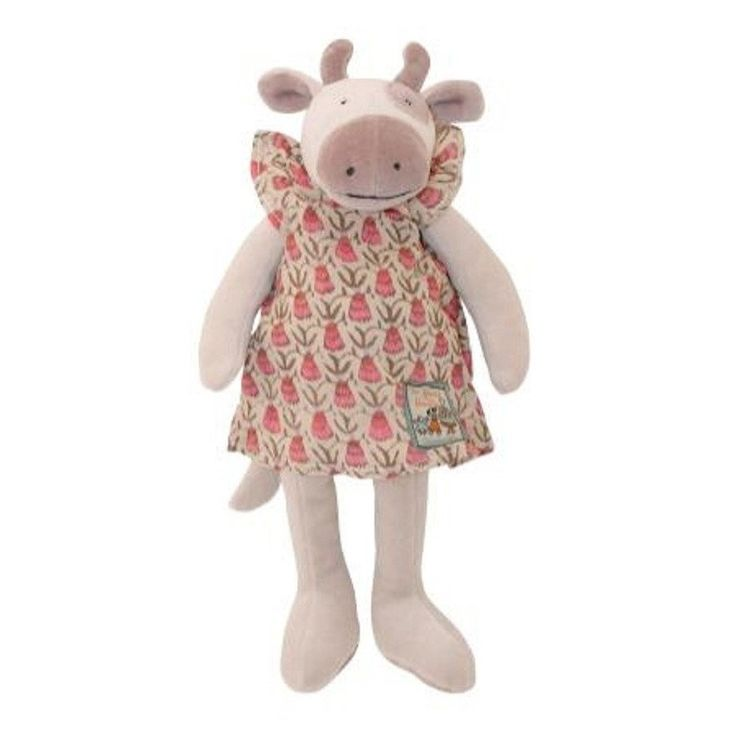 Moulin Roty 30cm Doll - Little Charlotte the Cow - Toy - Baby Belle