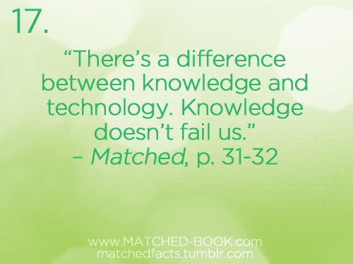Knowledge doesn't fail us....