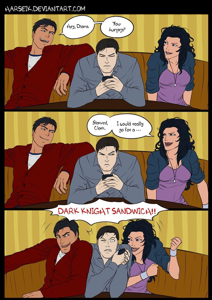 Dark Knight Sandwich by *Harseik on deviantART