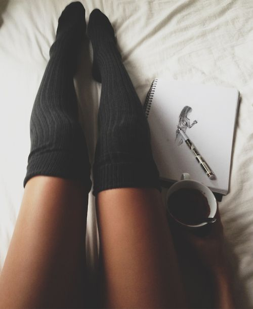 Nice long grey socks on a cold winters day = PERFECTION. #socks #winter #fashion