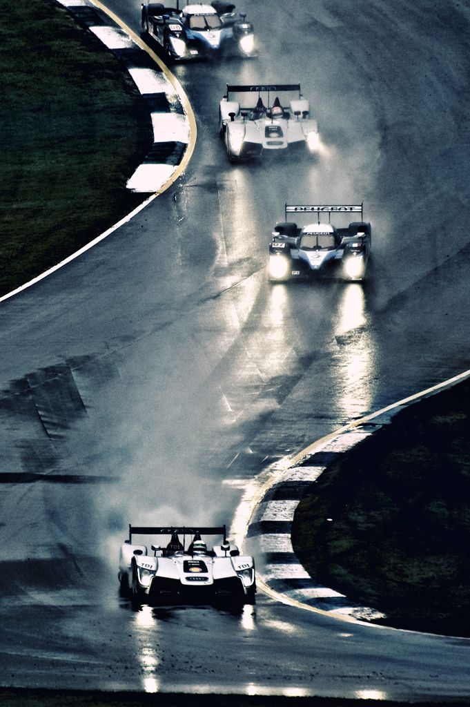 Audi vs. Peugeot - through the esses at Road Atlanta's Petit Le Mans