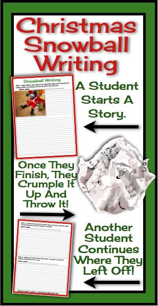 Snowball Writing: Try this FUN writing activity with your students around the holidays.