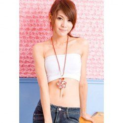 $5.95 New Arrival and Cute Style 5PCS White Tube Tops