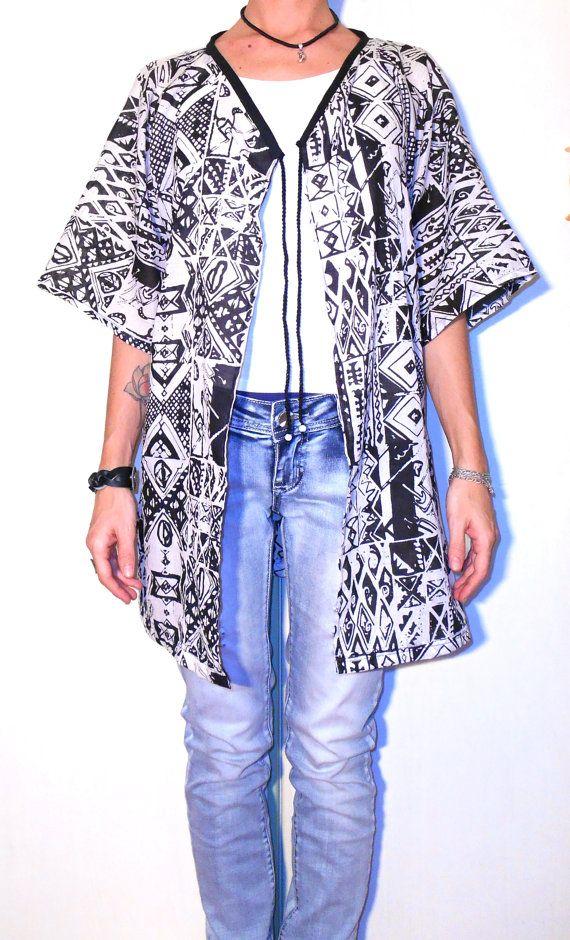#Kimono #blouse #chiffon #cardigan #coverup by ITINLab on Etsy www.itinlab.com