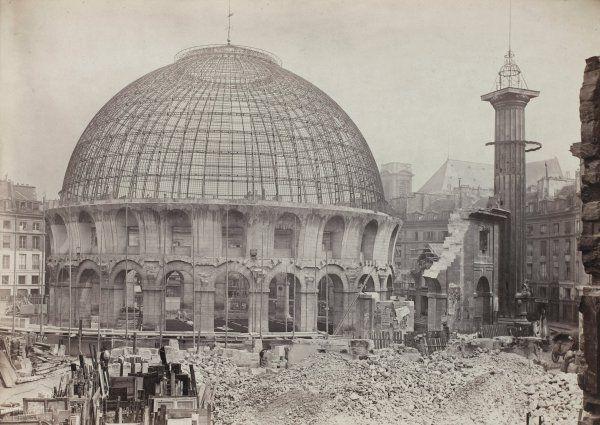 Démolition de la Halle au blé, 1887