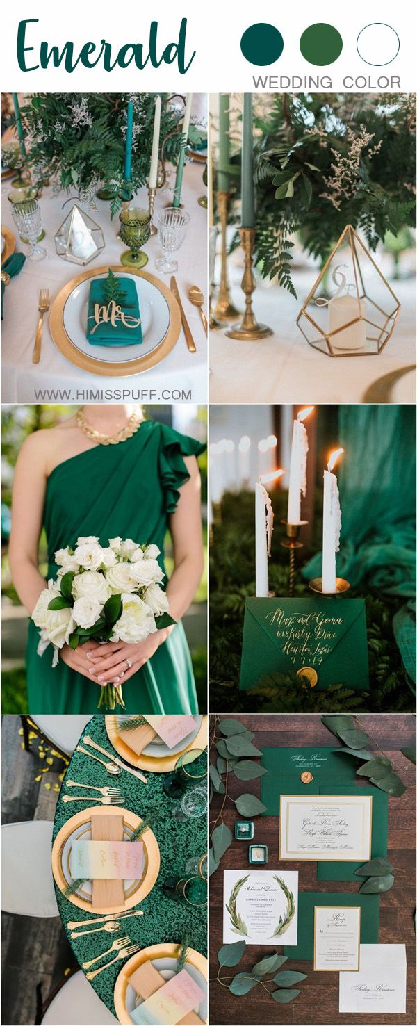 30 Sophisticated Emerald Green Wedding Ideas Emerald Wedding Colors Green Themed Wedding Wedding Colors