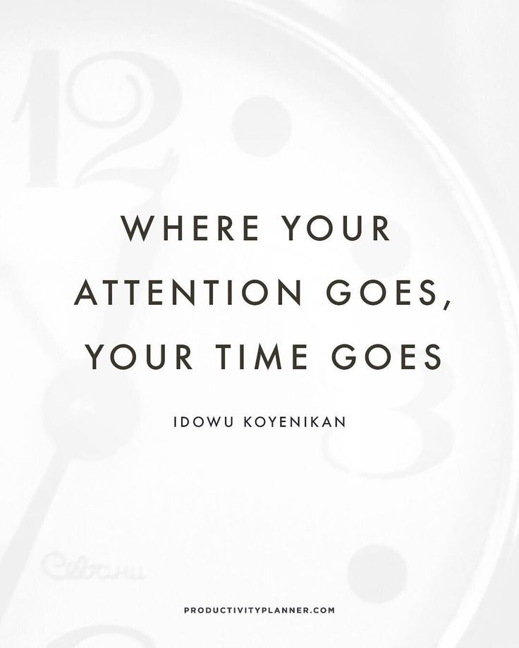 """""""Are you paying attention to the right things?  #beproductive"""""""