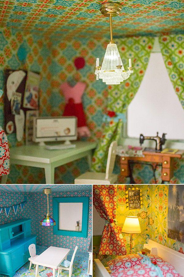Lampen im Puppenhaus
