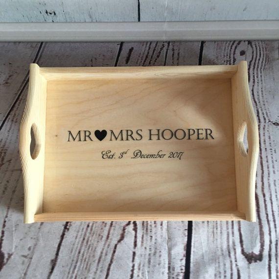 Personalised wedding tray, wedding breakfast, personalised wedding gift, vintage wedding, wedding prop