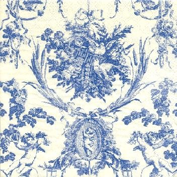 Blue toile fabrics patterns color stories etc pinterest toile and blue - Rideaux toile de jouy ...