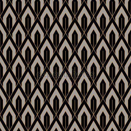 Pobieraj - Art Deco bezszwowe tapeta wzór. Deco geometryczne koronki — Ilustracja stockowa #98405360